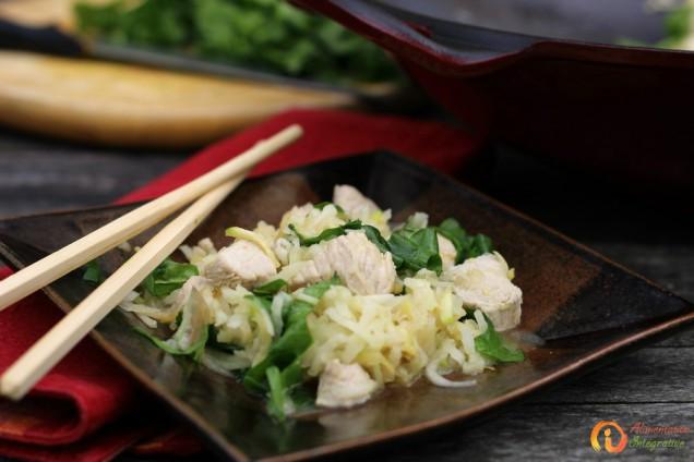 wok dinde chou rave courgette e blettes