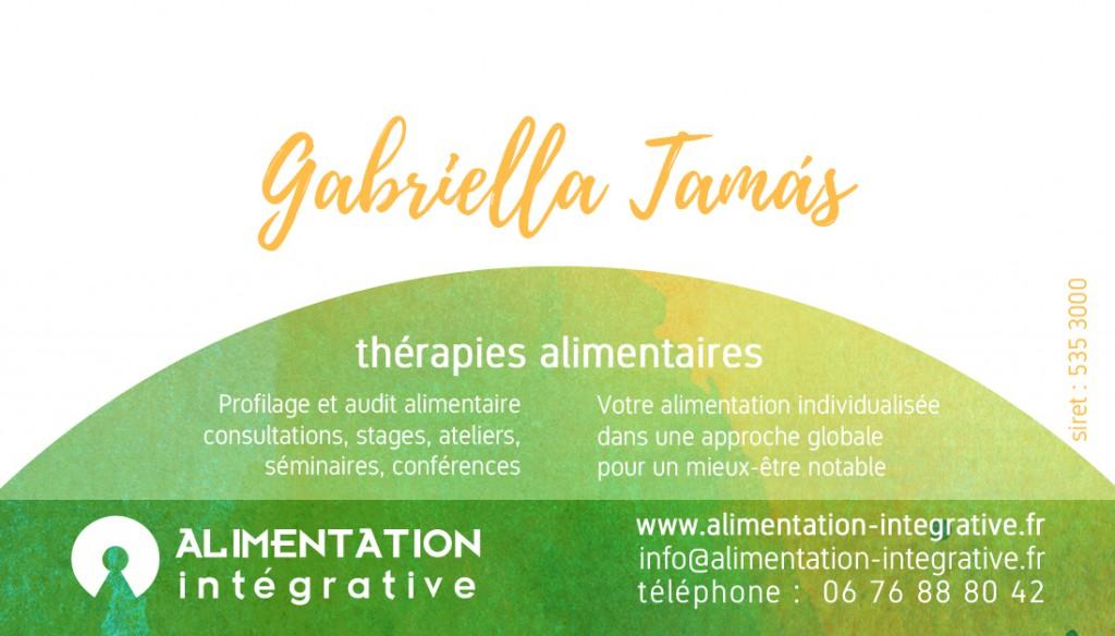 carte de visite Gabriella Tamas