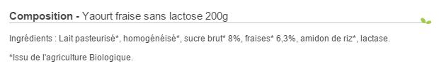 Yaourt sans lactose bio Molkerei Biederman