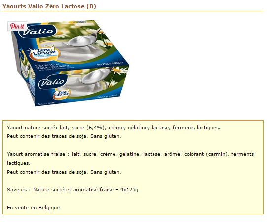 valio yaourt sans lactose