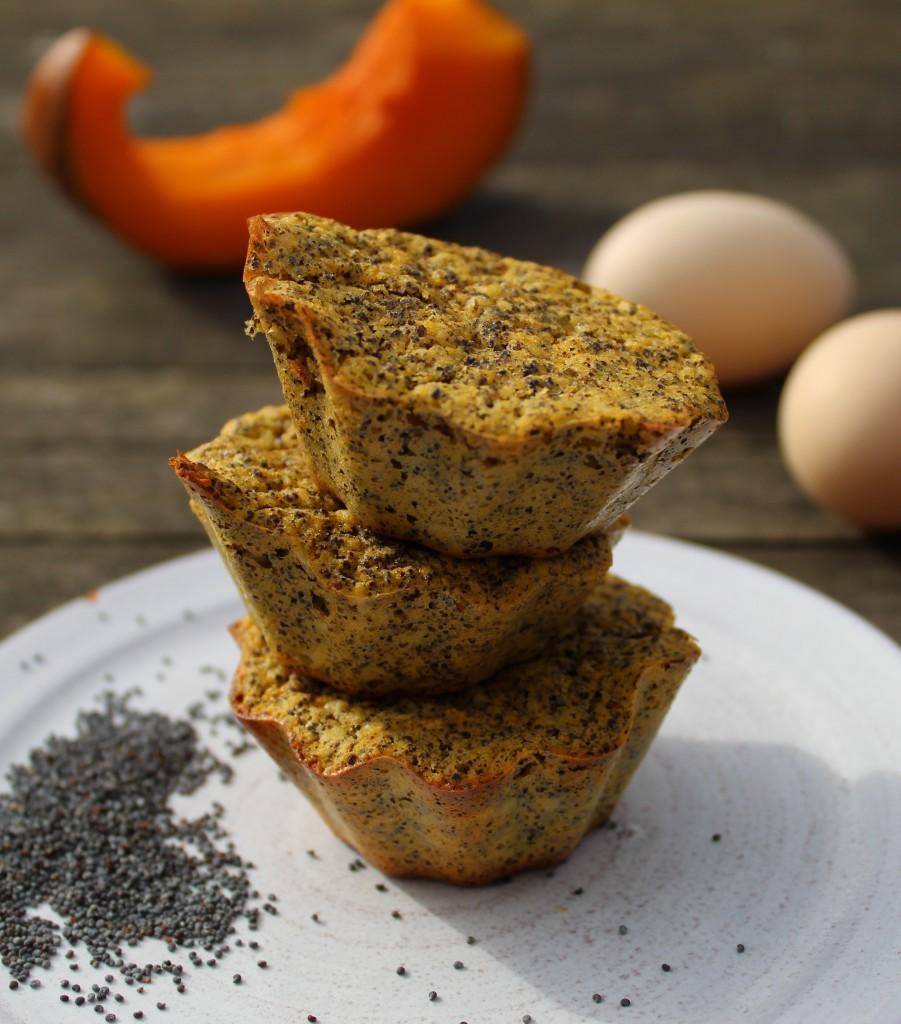 muffins paléo au potimarron et pavot