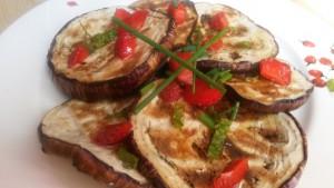 salade aubergine aigre-douce