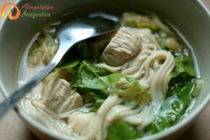 soupe avec reste wok
