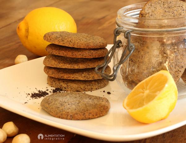 Biscuit citron pavot macadamia sans gluten